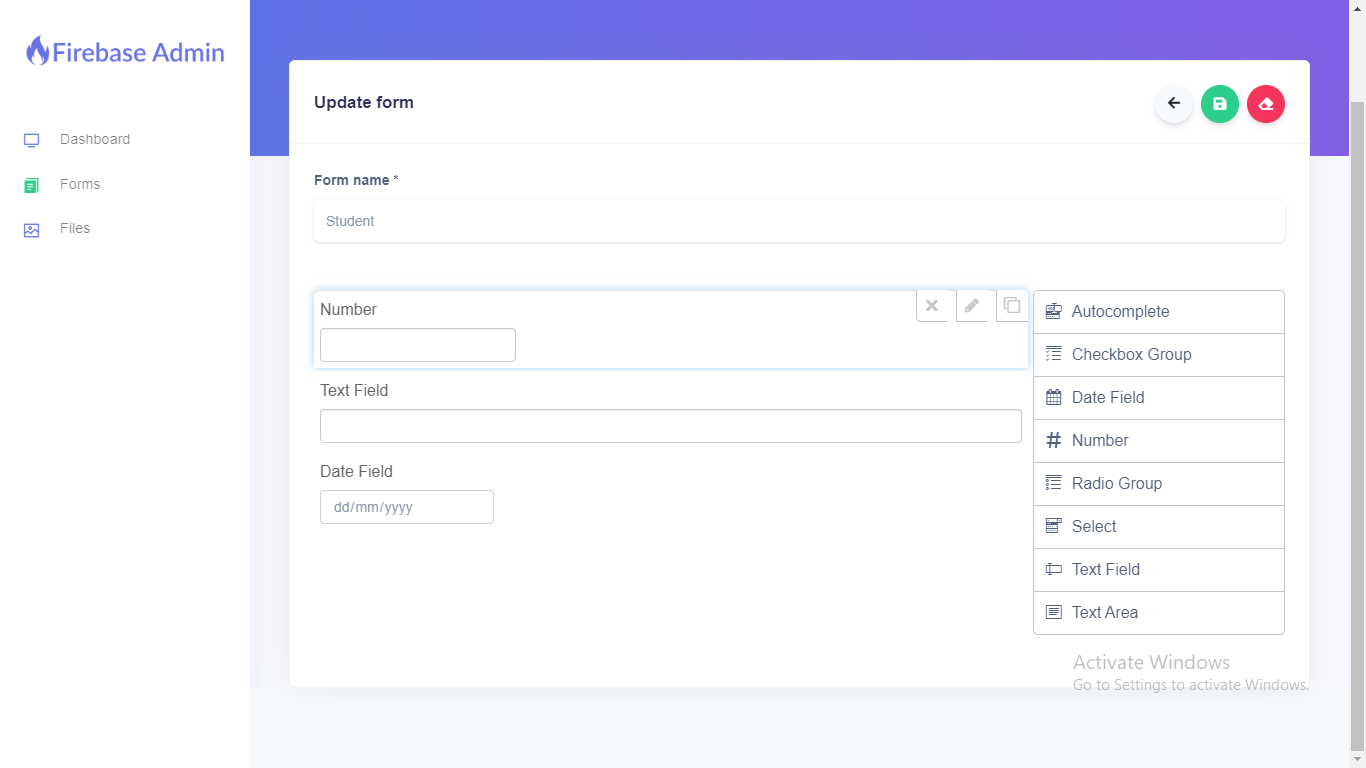 Firebase Firestore Database Admin With Form Builder - Vue.js - 4